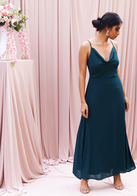 Cowl neck maxi dress