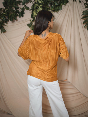 Twisted Pleated Top