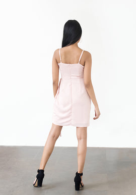 Side tie-up panel dress