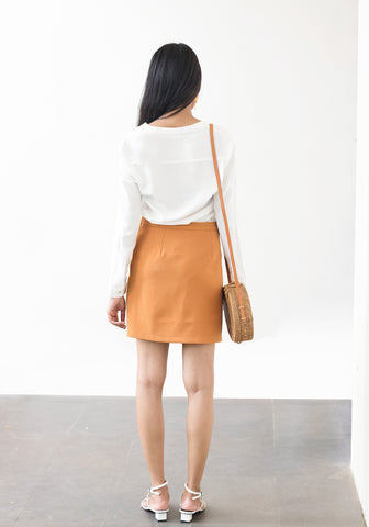 High waist mini skirt