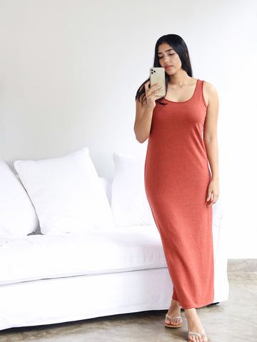 Round Neck Basic Dress