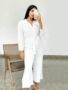 Wide leg formal jumpsuit