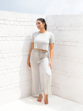 Drawstring Straight Leg Jersey Trouser