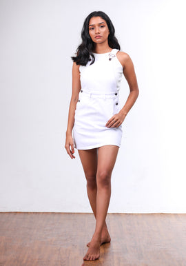 White pinafore