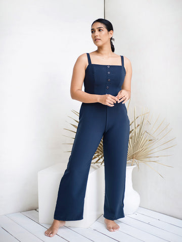 Thick strap jumpsuit