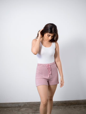 Drawstring Ribbed Short