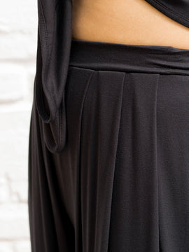 Pleated Jersey Trouser