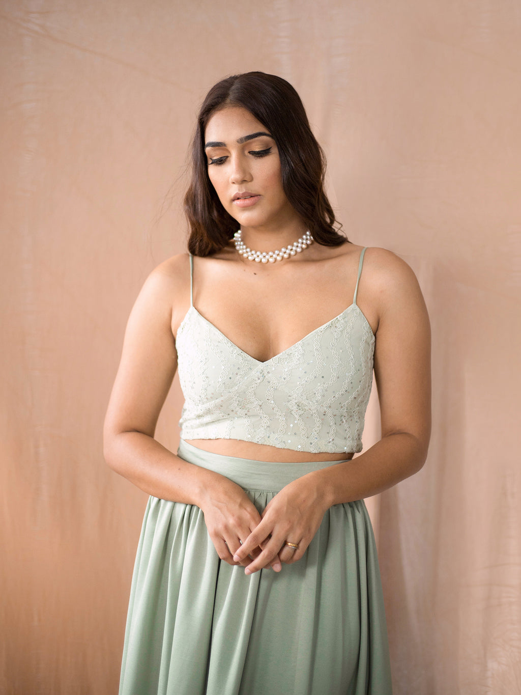 Bustier Lace Crop Top