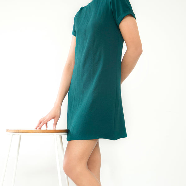Short Sleeved Shift Dress