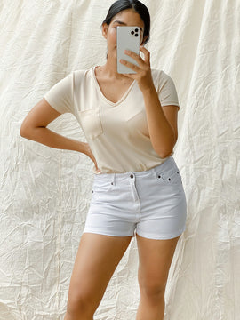 V Neck short sleeve basic top
