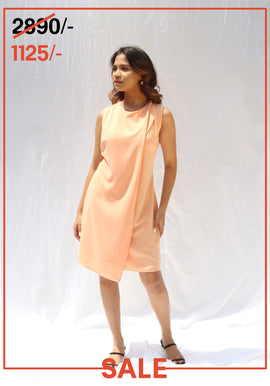Sleeveless overlap dress