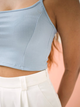 Panel Detail Crop Top