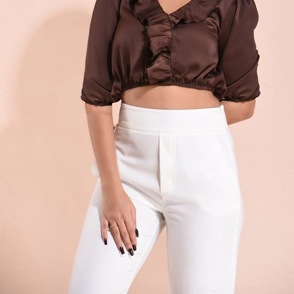 midi sleeve crop top