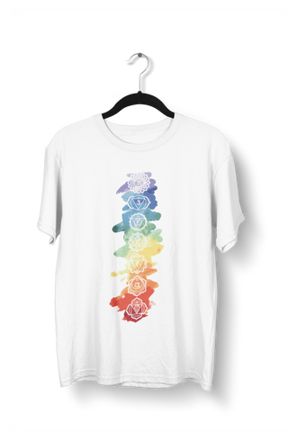 Colorful Chakras Yoga Tees for Men - COPYCATZ