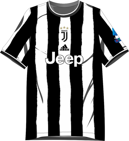 Custom Football Jersey - Black White Juventus Concept - COPYCATZ