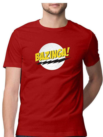Bazinga Logo Big Bang Theory Red - COPYCATZ
