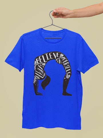 Believe in Yourself Yoga Tees for Men - COPYCATZ
