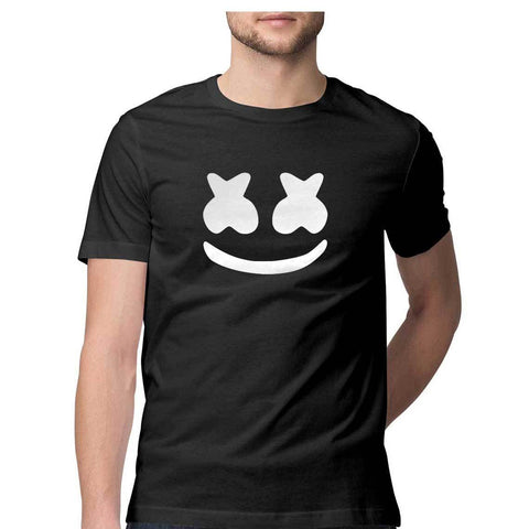 Marshmello Mask Printed T shirt for Men - COPYCATZ