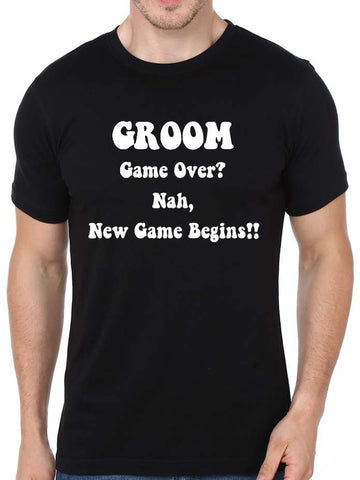 Bachelor Themed - Groom Game Over T-Shirt - COPYCATZ