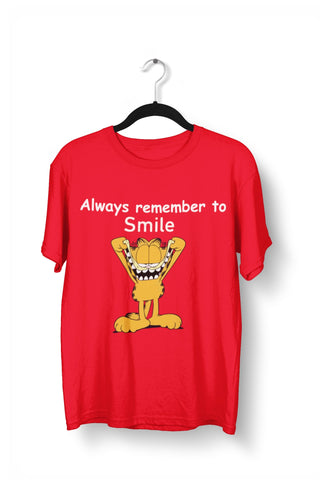 Garfield - Always Remember to Smile T shirt for Men