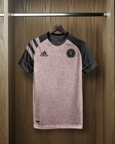 Womens Football Custom Kits - Baby Pink Grey Design
