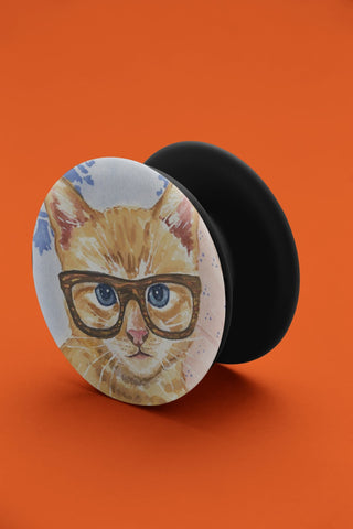 thelegalgang,Cat with Glasses Pop Grip,POP GRIPS.
