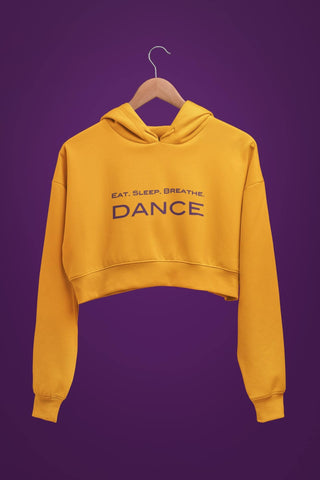 thelegalgang,Eat Sleep Dance Graphic Crop Hoodies,.