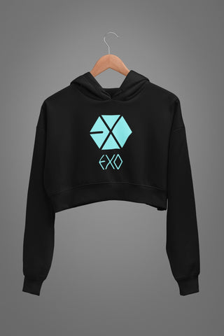 EXO Graphic Crop Hoodies