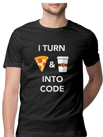 Pizza Coffee Code T-Shirt - COPYCATZ