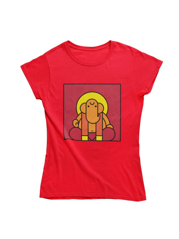 thelegalgang,Ganesha Block Art T-Shirt,WOMEN.