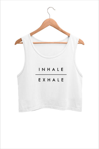 Inhale Exhale Graphic Yoga Crop Tank Top