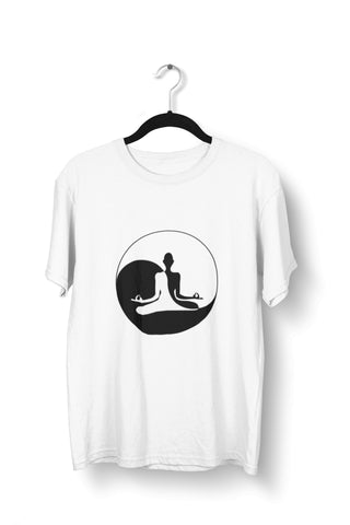 thelegalgang,Ying Yang Graphic Printed Yoga T-Shirt for Men,.