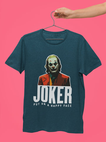Put on A Happy Face Joker T shirt - COPYCATZ