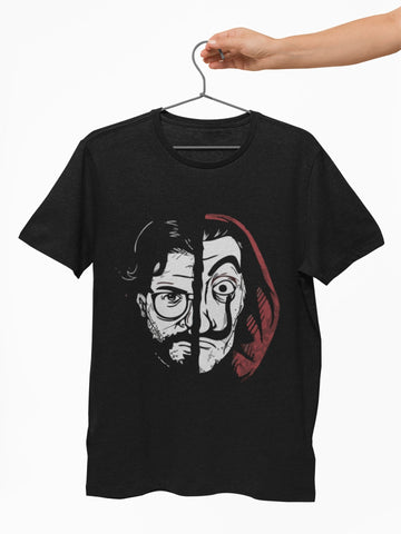 Professor two face Money heist Graphic T shirt for Men - COPYCATZ
