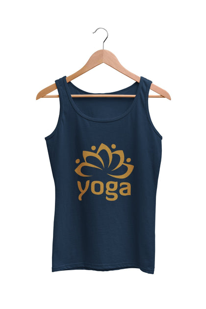 thelegalgang,Yoga Golden Graphic Printed Tank Top,TANK TOP.