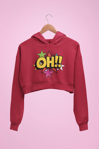 thelegalgang,Pop Art Graphic Crop Hoodies,.