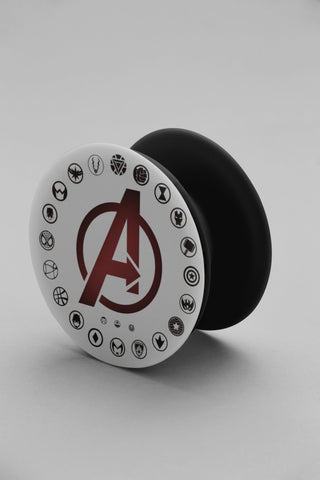 Avengers all superheroes Logo Pop Grip - COPYCATZ