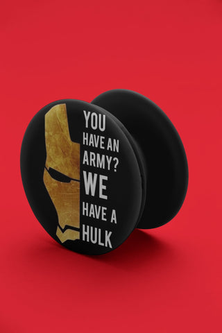 Iron Man Quote Pop Grip - COPYCATZ