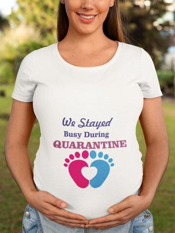 thelegalgang,Busy During Quarantine Graphic Maternity T shirt,WOMEN.