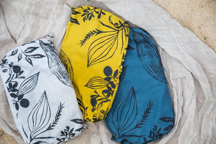 BUGS & LEAVES | Handprinted textiles