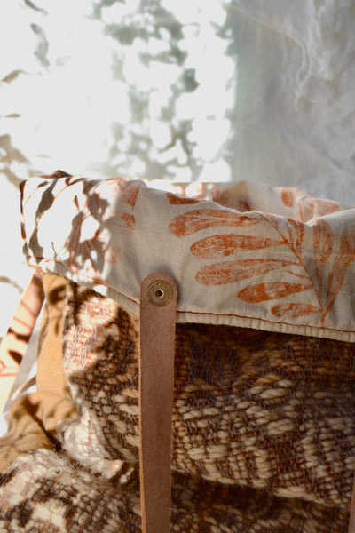 MAZURCA x IT'S OK TO GO SLOW | Woolly handwoven and naturally dyed tote bag