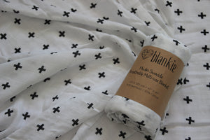 Bamboo Cotton Blend Muslin blankie - Crosses
