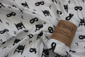 Organic Cotton Muslin blankie - Hero Struck