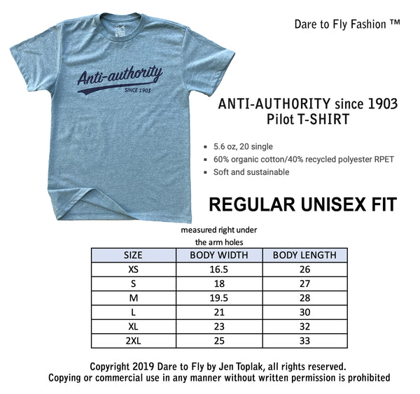 Anti-authority Pilot Aviator T-shirt