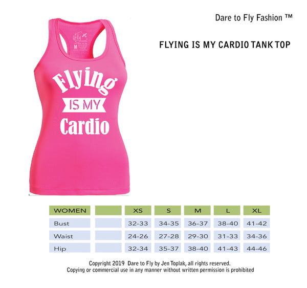 Flying is my cardio female pilot T-shirt tank top