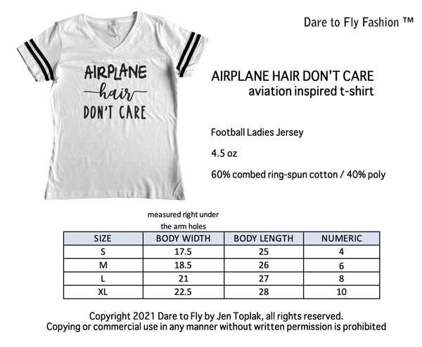 airplane hair don't care size chart