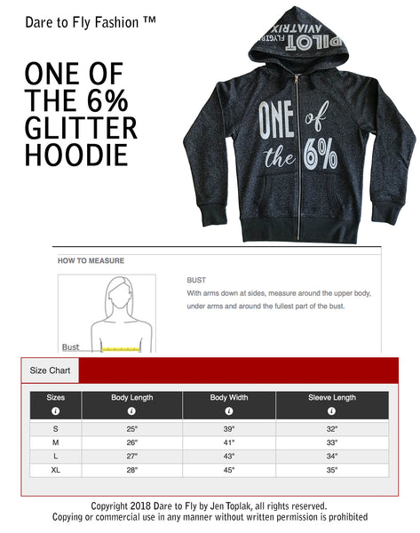One of the 6% Hoodie Size Chart