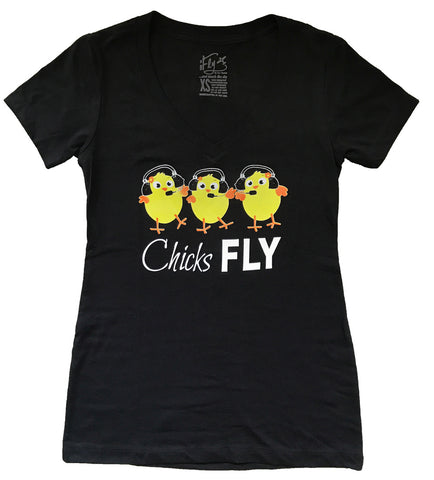 CHICKS FLY T-SHIRT