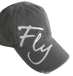 AVIATOR GREY DISTRESSED BUTTONLESS HAT - DARE TO FLY™