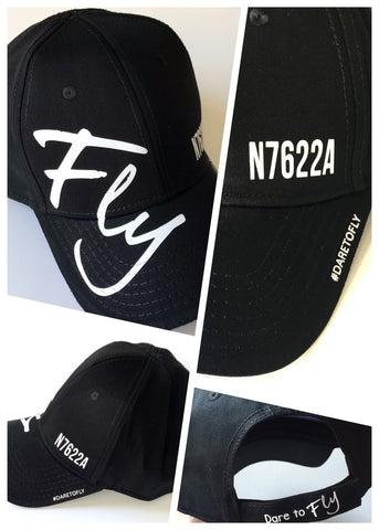 CUSTOM TAIL NUMBER or AIRPORT ID BUTTONLESS FLY HAT